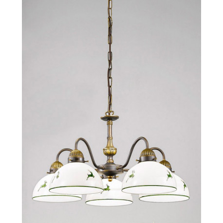 Kolarz Nonna Glass Chandelier Green Deer
