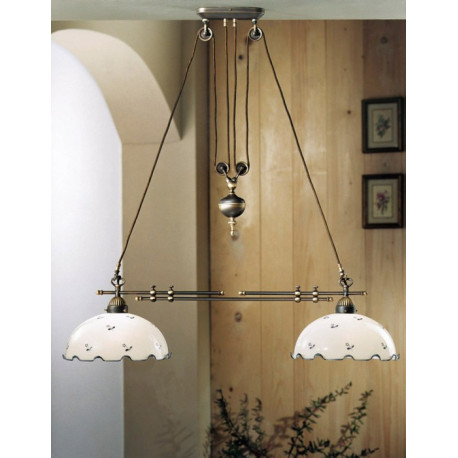 Kolarz Nonna Glass Adjustable Chandelier Flowers