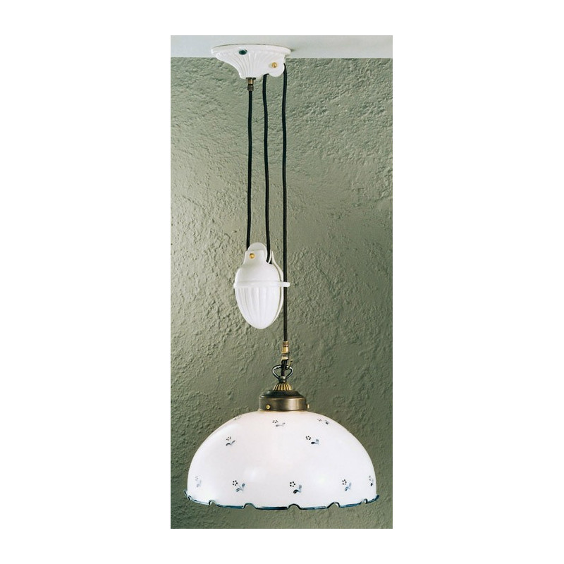 Kolarz Nonna Glass Adjustable Hanging Light Flowers