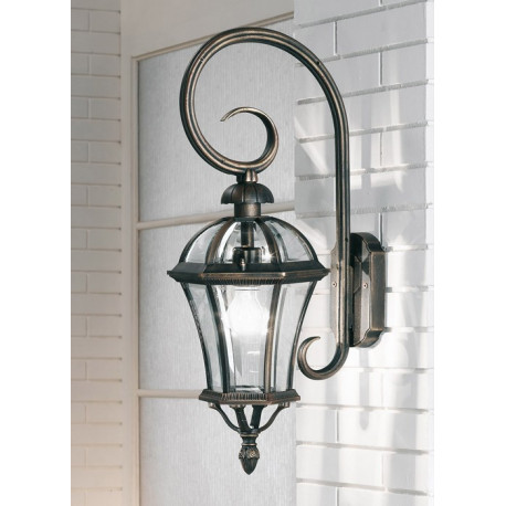 Kolarz Westminster Outdoor Wall Light Rusty Brown