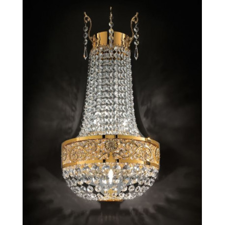 Masiero Impero and Deco Crystal Wall Light