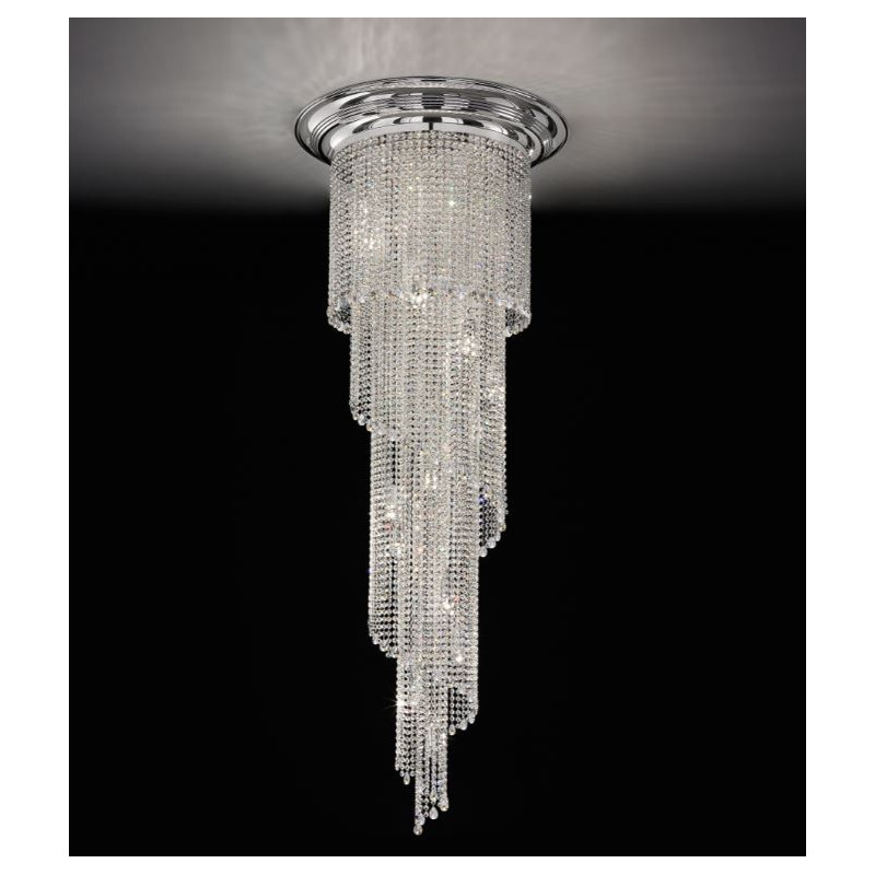 Masiero Impero and Deco Crystal 200cm Drop Ceiling Light