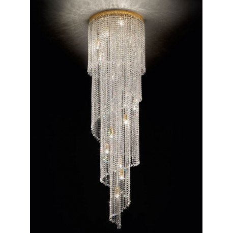 Masiero Impero and Deco Crystal Drop Ceiling Light