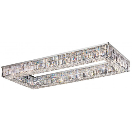 Masiero Impero and Deco Crystal Rectangular Flush Ceiling Light
