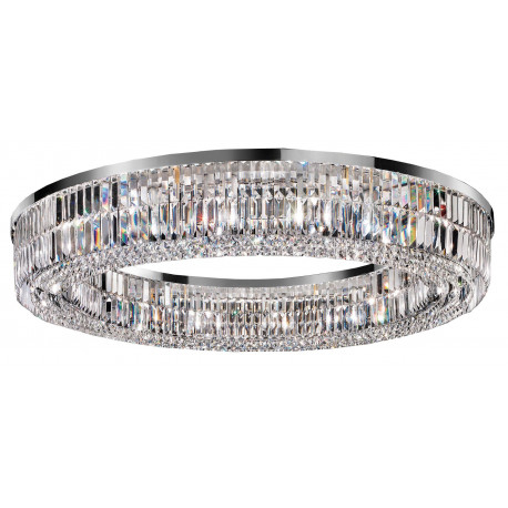 Masiero Impero and Deco Crystal Round Flush Ceiling Light