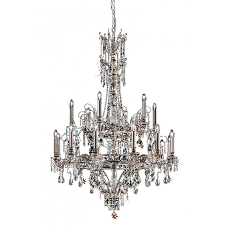Masiero Impero and Deco Crystal Chandelier Light