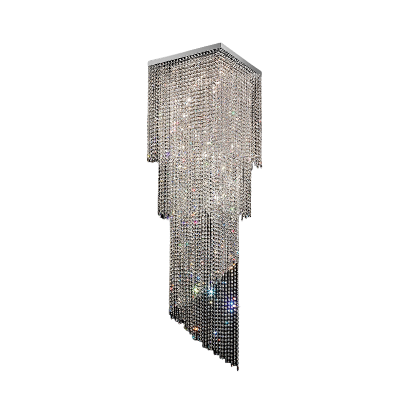 Masiero Impero and Deco Crystal Flush Ceiling Light