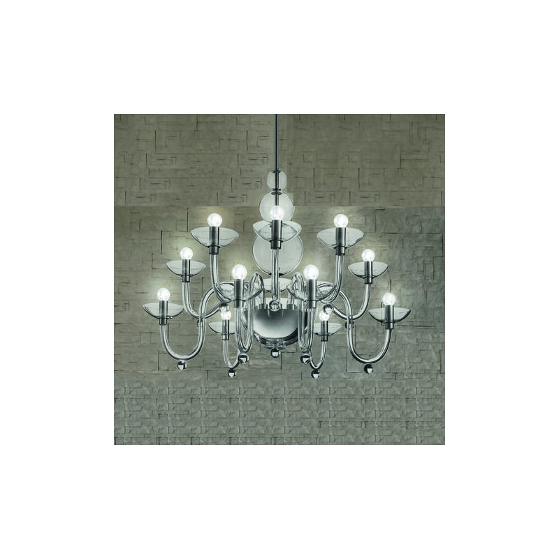 Leucos Danieli Glass Chandelier