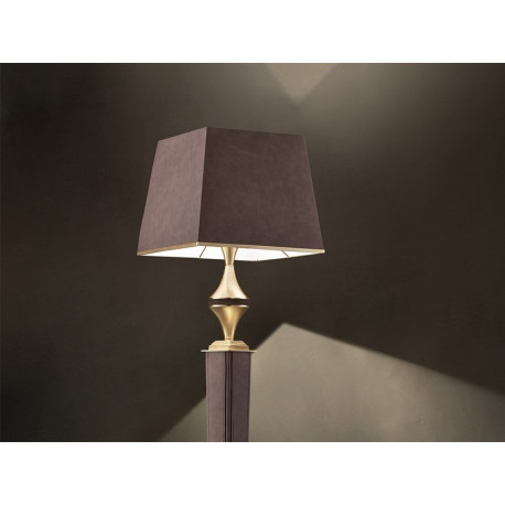 Masiero Darshan Floor Lamp Brushed Brass & Leather