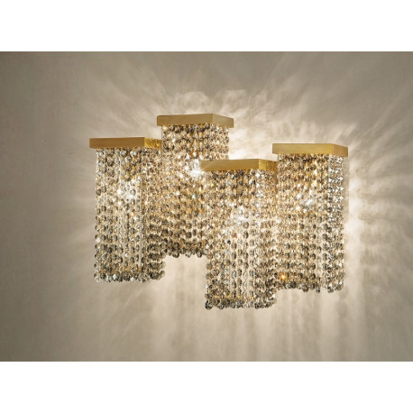 Masiero Skyline Wall Light Brushed Brass