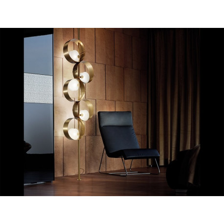 Masiero Sound Floor Lamp Brushed Gold