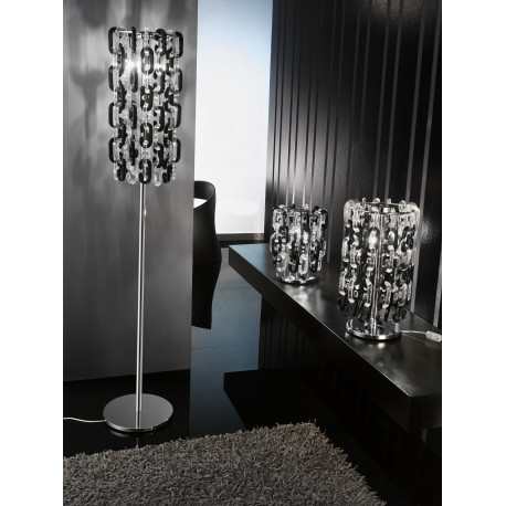 Voltolina I Do Glass Floor Lamp Black and Clear