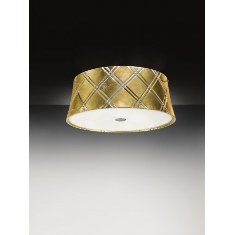 Metal Lux Corallo Glass Ceiling Light Gold