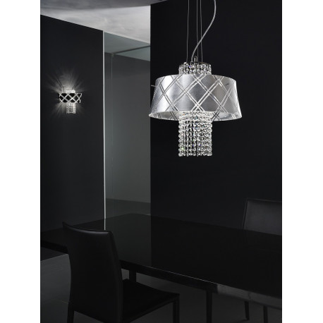 Metal Lux Medusa Crystal Hanging Light Silver
