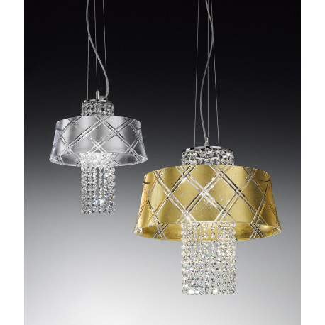 Metal Lux Medusa Crystal Hanging Light Gold