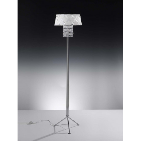 Metal Lux Medusa Crystal Floor Lamp White