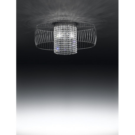Metal Lux Nido Crystal Ceiling Light Chrome