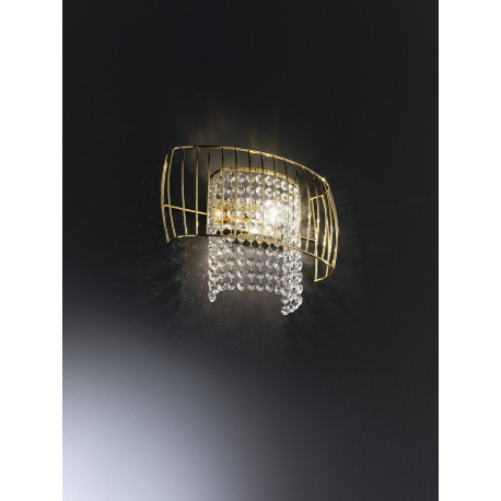 Metal Lux Nido Crystal Wall Light Gold