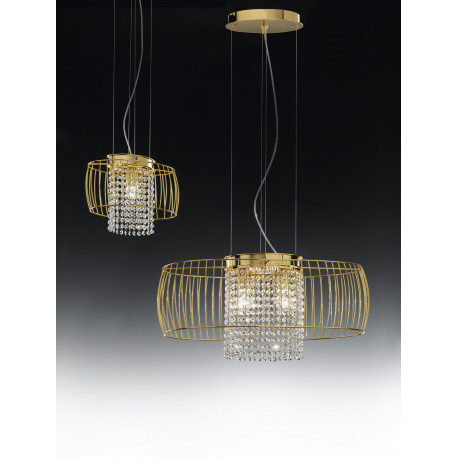 Metal Lux Nido Crystal Hanging Light Gold