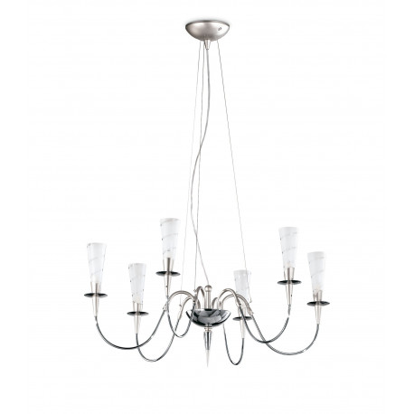 Metal Lux Amleto Glass Chandelier