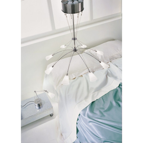 Metal Lux Argo Glass Hanging Light