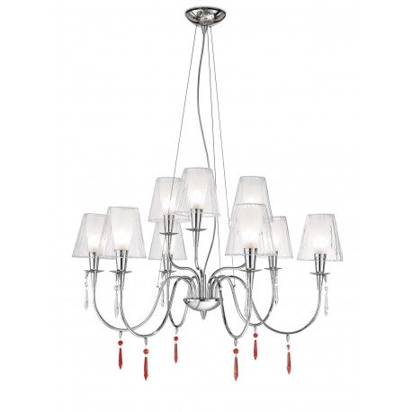 Metal Lux Opera Glass Chandelier Clear