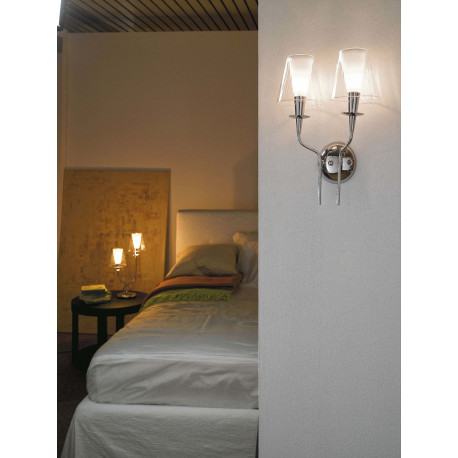 Metal Lux Opera Glass Wall Light Clear