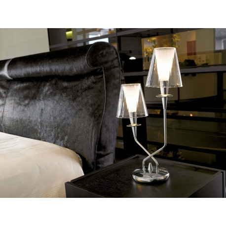 Metal Lux Opera Glass Table Lamp Clear