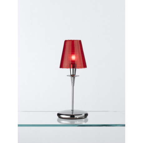 Metal Lux Opera Glass Table Lamp Red