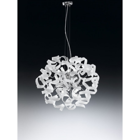 Metal Lux Astro Glass Hanging Light White