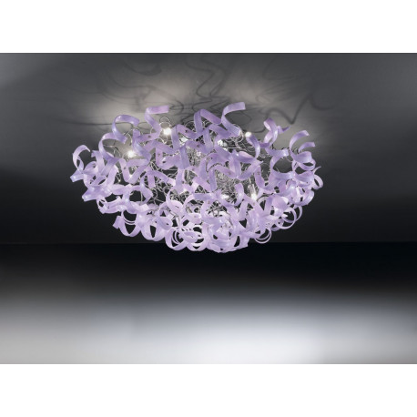 Metal Lux Astro Glass Ceiling Light Lilac