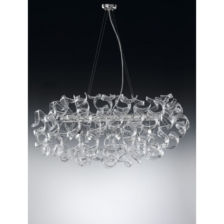 Metal Lux Astro Glass Hanging Light Clear