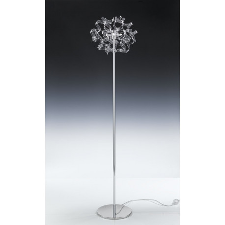 Metal Lux Astro Glass Floor Lamp Clear
