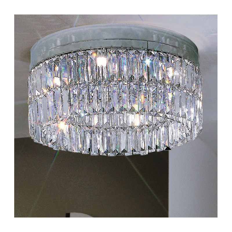 Kolarz Prisma Circular Crystal Ceiling Light