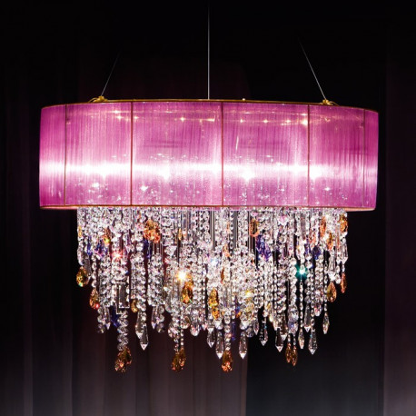 Kolarz Paralume Crystal Chandelier / Ceiling Light Violet
