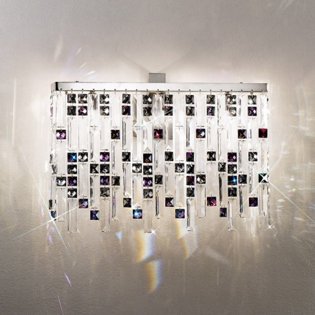 Kolarz Prisma Stretta Crystal Wall Light Chrome