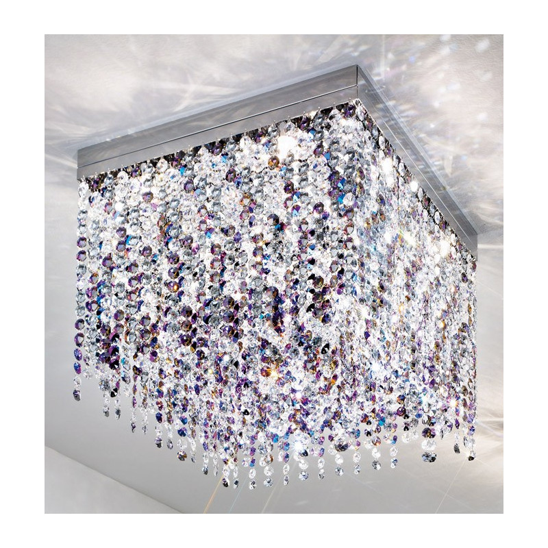 Kolarz Prisma Stretta Crystal Ceiling Light Chrome