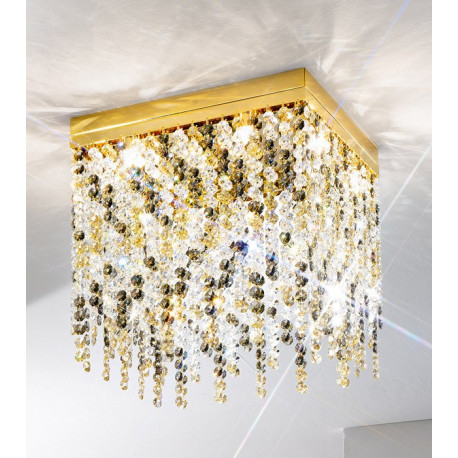 Kolarz Prisma Stretta Crystal Ceiling Light Gold