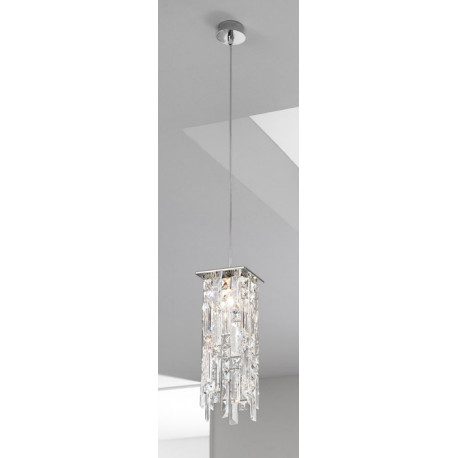 Kolarz Prisma Stretta Crystal Hanging Light Chrome