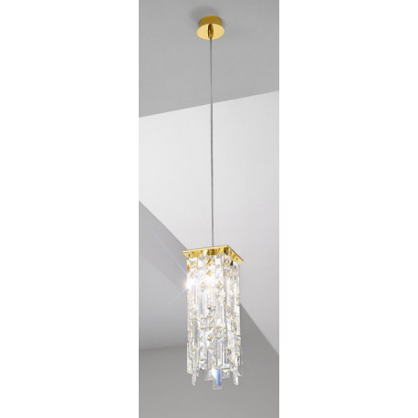 Kolarz Prisma Stretta Crystal Hanging Light Gold