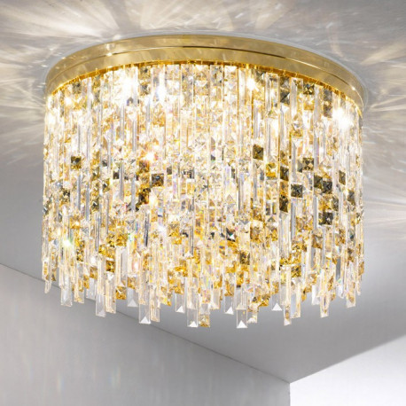 Kolarz Prisma Dragon Crystal Ceiling Light Gold