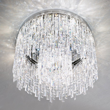 Kolarz Prisma Dragon + Stretta Crystal Ceiling Light Chrome