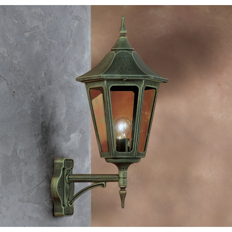 Garden Light Esagonale Grande Wall Light Green/Gold