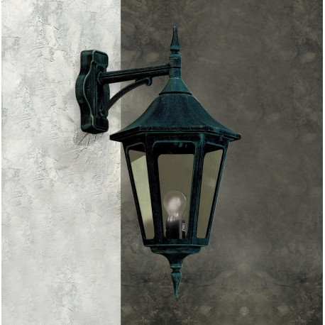 Garden Light Esagonale Grande Wall Light Black/Green