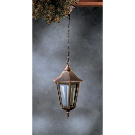 Garden Light Esagonale Grande Hanging Light Brown