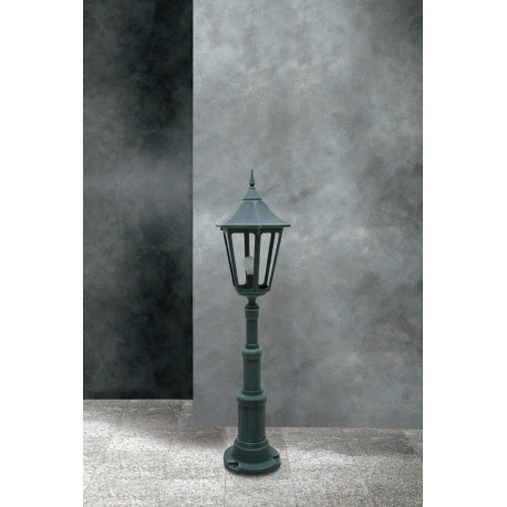 Garden Light Esagonale Grande Bollard Black/Green