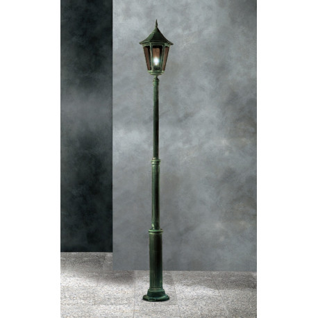 Garden Light Esagonale Grande Lamp-post Green/Gold