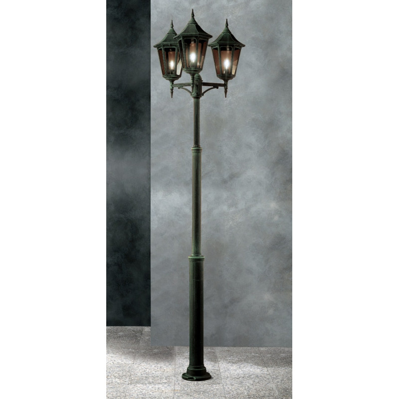 Garden Light Esagonale Grande Lamp-post Green-Gold