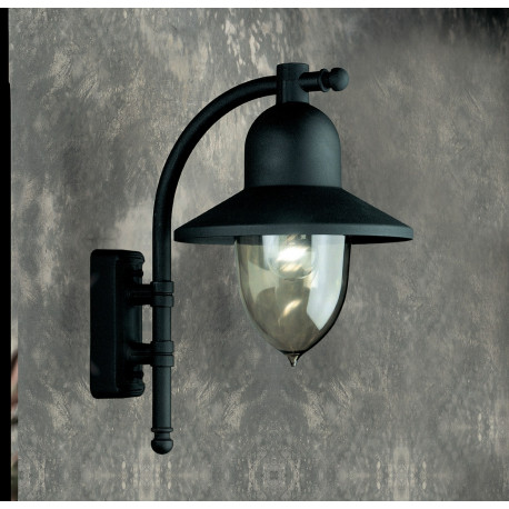 Garden Light Porto 90 Wall Light Black