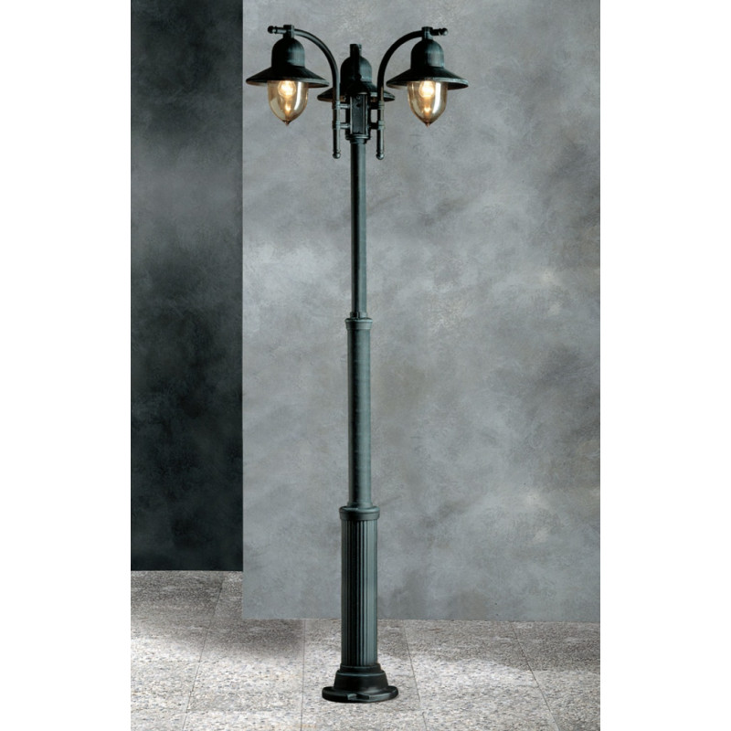 garden post. Garden Light Porto 90 Lamp-post Black/Green Post -